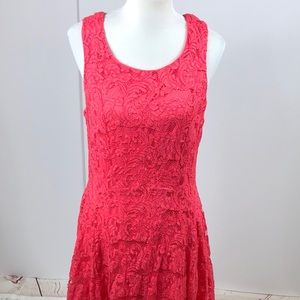 Torrid coral Lace Fit and Flare dress